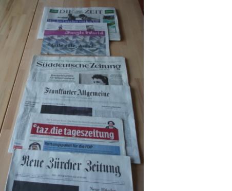 Tages- u. Wochenzeitungen im Kapitaldruck