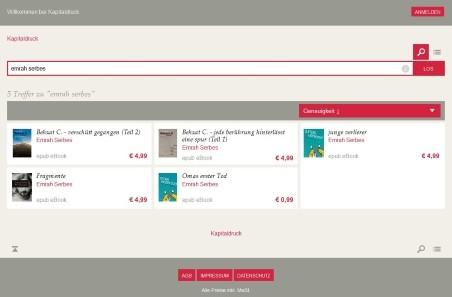 ebooks ordern über Kapitaldruck